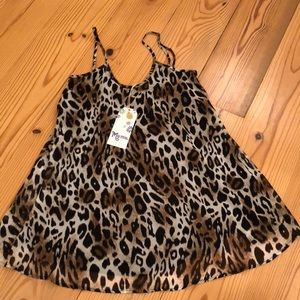 NWT Mumu leopard dress